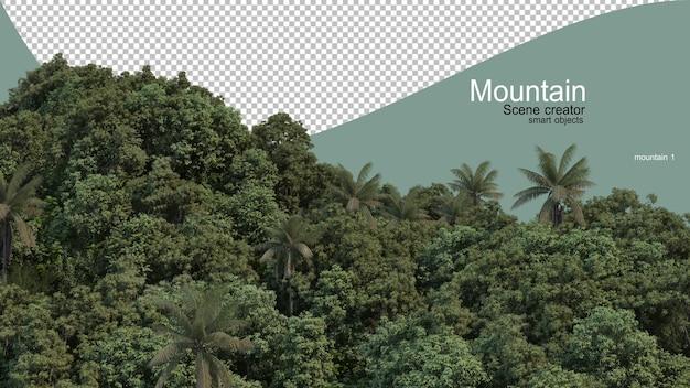 Diversi tipi di montagne Psd Premium