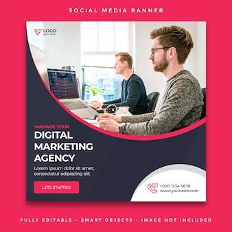 Post di social media marketing piazza agenzia digitale