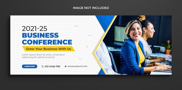 Timeline di promozione del marketing aziendale digitale copertina di facebook e modello di copertina dei social media