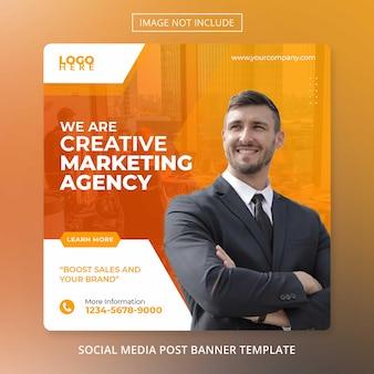 Modello di volantino dell'agenzia post social media marketing aziendale digitale