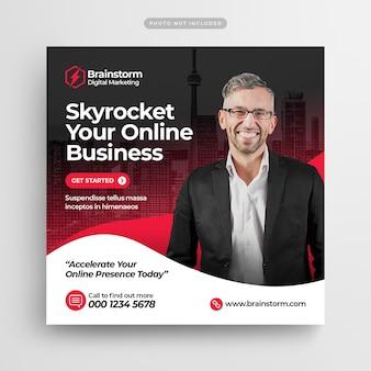 Digital business marketing social media post e web banner