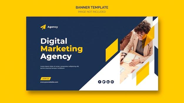 Modello di banner web marketing aziendale digitale