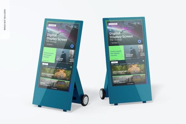 Mockup dello schermo dei display digitali