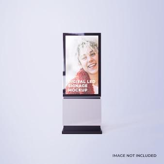 Mockup pubblicitario di segnaletica digitale a led