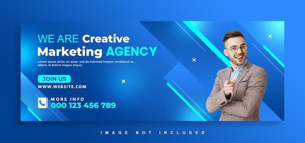 Design della copertina di facebook dell'agenzia di marketing digitale