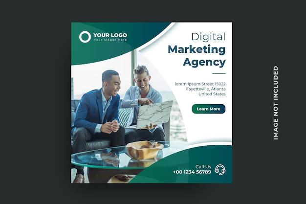 Modello di banner per social media dell'agenzia di marketing digitale