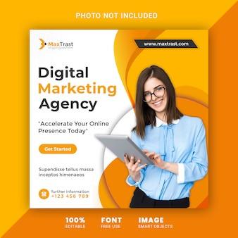 Banner di social media agenzia di marketing digitale