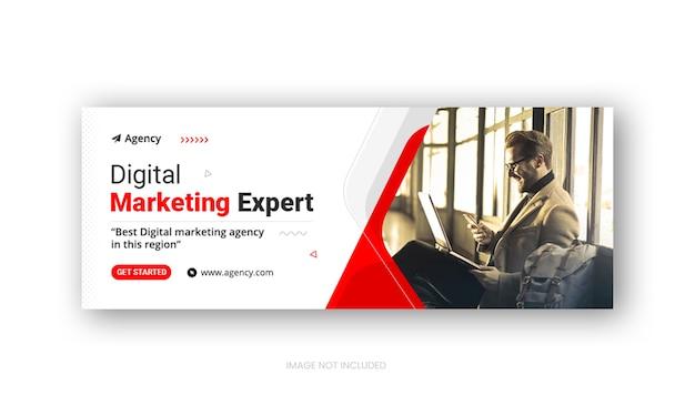 Modello di copertina facebook dei social media dell'agenzia di marketing digitale