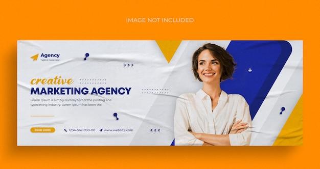 Agenzia di marketing digitale social media banner web instagram o modello di copertina di facebook