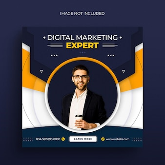 Agenzia di marketing digitale post sui social media post instagram banner web o modello di copertina facebook