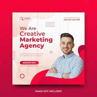 Sfondo del modello di promozione post social media dell'agenzia di marketing digitale