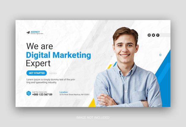 Post di social media dell'agenzia di marketing digitale o modello di banner web