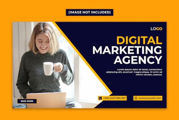 Modello di banner web agenzia di marketing digitale