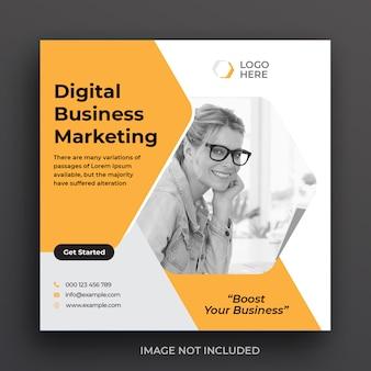 Modello di post sui social media aziendali di marketing digitale