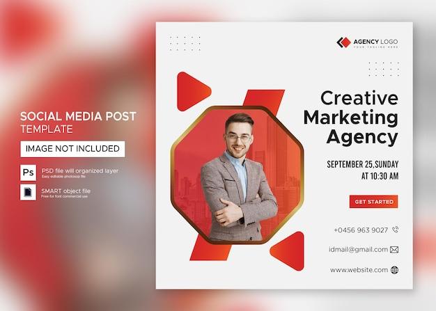 Webinar aziendale di marketing digitale post sui social media psd premium