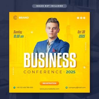 Banner instagram di marketing digitale e webinar aziendale dal vivo o modello di post sui social media