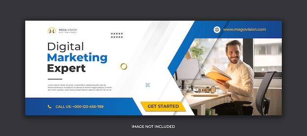 Modello di banner di social media aziendale di marketing digitale
