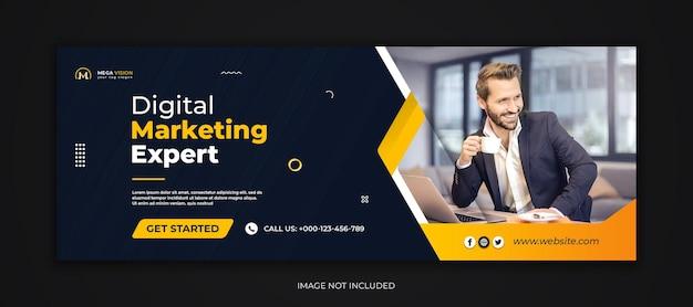 Modello di copertina di facebook dei social media aziendali di marketing digitale