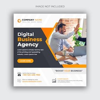 Post di social media aziendale di marketing digitale e modello di banner web