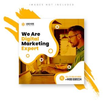Banner esperto di marketing digitale