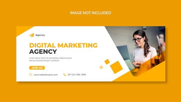 Copertina facebook di marketing digitale e modello di banner web