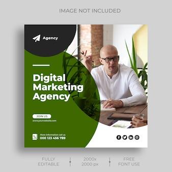 Modello di feed di post instagram di marketing digitale