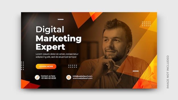 Promozione marketing digitale copertina social media banner modello psd psd gratuito