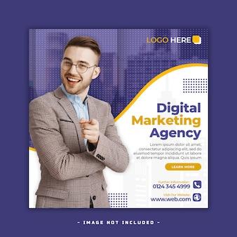 Design di banner per social media di marketing digitale