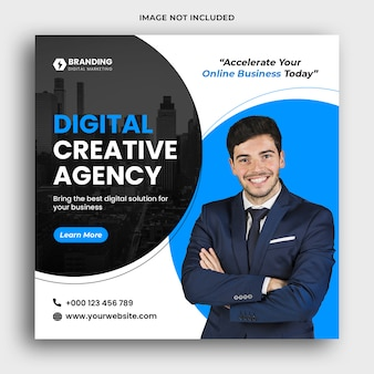 Modello di banner di social media marketing digitale premium psd