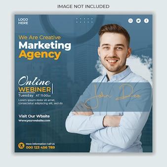 Modello di banner post instagram social media marketing digitale