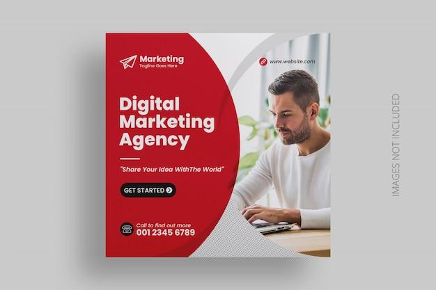 Modello di post social media marketing digitale