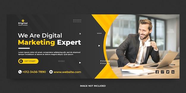 Modello di banner per post sui social media di marketing digitale e copertina di facebook