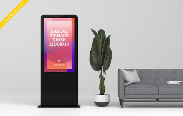 Mockup display digitale a led.