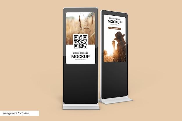 Digital signage mockup design isolato