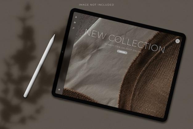 Mockup schermo tablet digitale