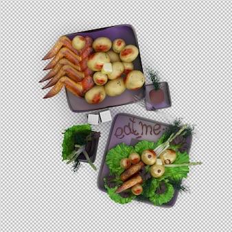 Il piatto da pranzo 3d render