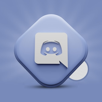 Rendering di icone 3d di discord