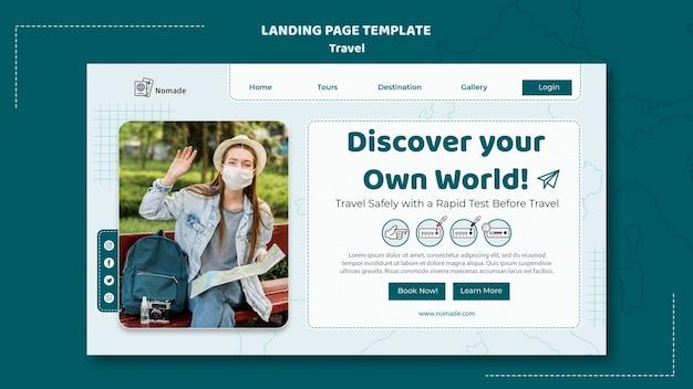 Scopri il modello della pagina di destinazione del mondo