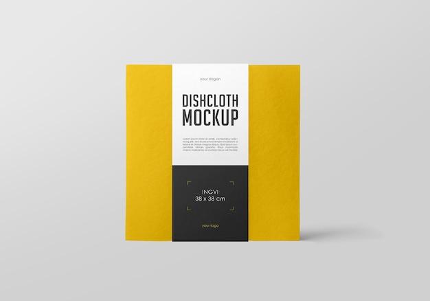 Design mockup di strofinaccio Psd Premium