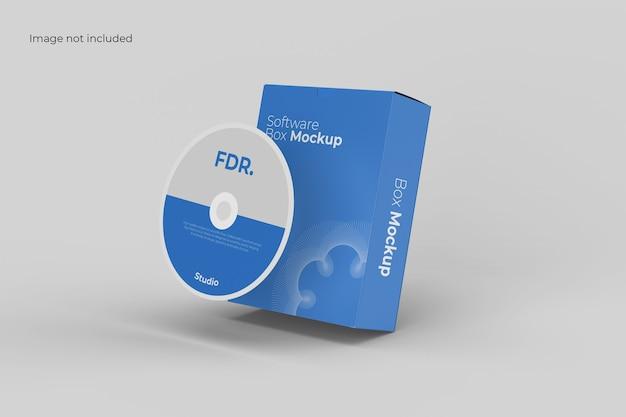Mockup della scatola del disco e del software