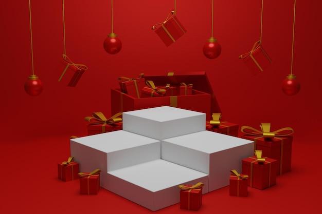 Mostra il podio natalizio per la presentazione del prodotto