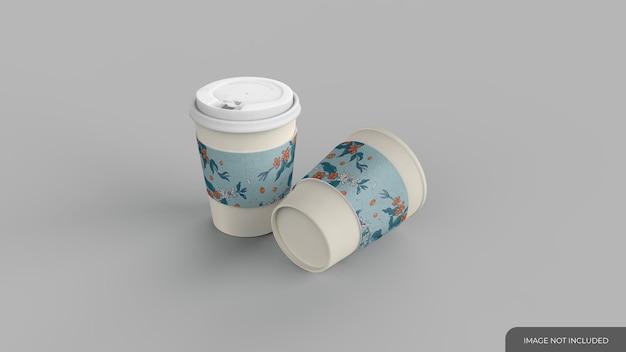 Mockup di tazza di caffè usa e getta