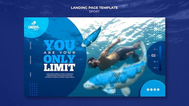 Pagina di destinazione dell'addestramento subacqueo