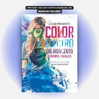 Dj color electro party