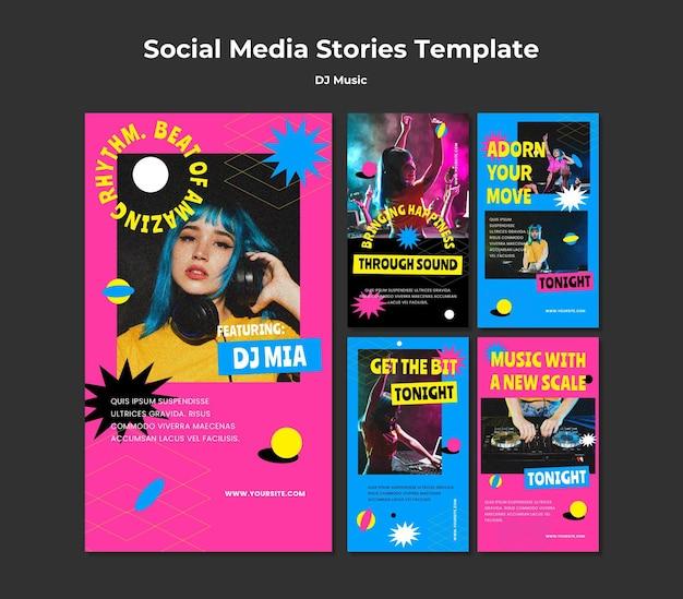 Storie di instagram di musica per dj