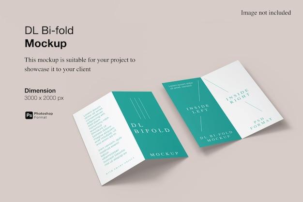 Dl bi-fold mockup design nel rendering 3d
