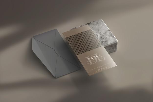 Cartolina dl o carta di invito mockup