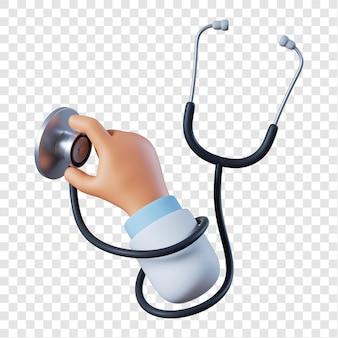 Mano del medico con lo stetoscopio
