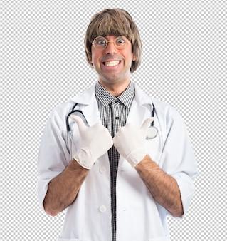 Dottore con il pollice in su