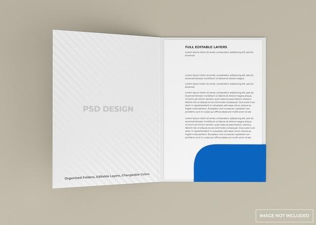 Progettazione di mockup di cartella documenti isolato